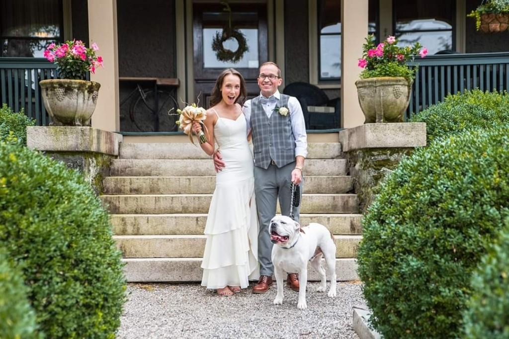Wedding photo idea dog